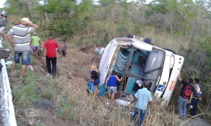 Ônibus saiu de Parnaíba com destino a Brasília