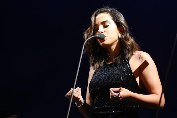 Anitta canta com Andrea Bocelli em São Paulo (Crédito: Manuela Scarpa/Brazil News)