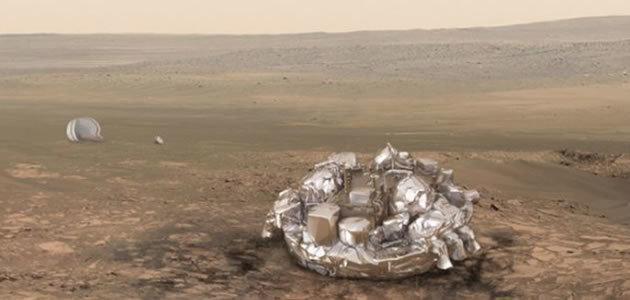 Sonda vai pousar em Marte em meio a tempestade de areia