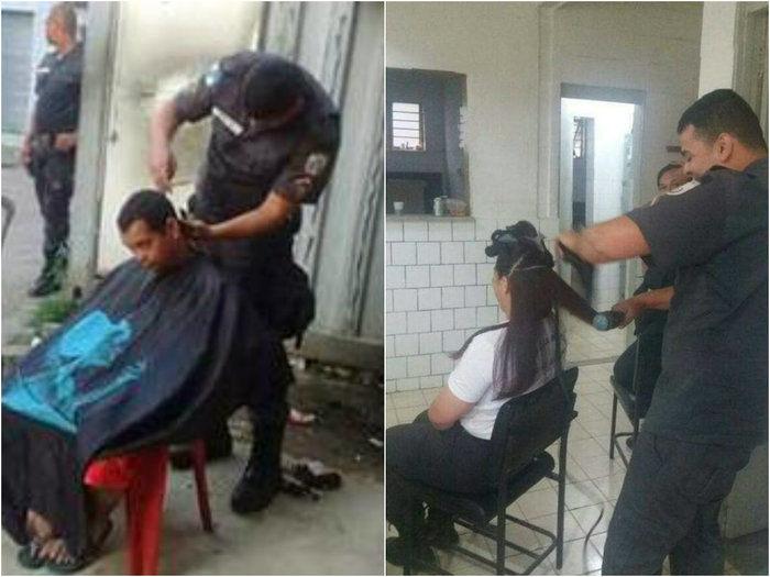 PM cabeleireiro viraliza na web:'Não é só de tiro que o morro vive'