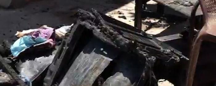 Móveis foram consumidos pelo fogo (Crédito: Rede Meio Norte)