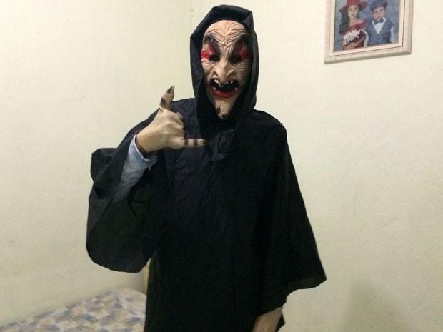 Jovem se vestiu de palhaço em SP (Crédito: Reprodução/ Facebook )