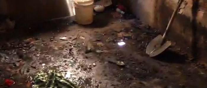 Quarto da residência ficou  totalmente destruído (Crédito: Rede Meio Norte)