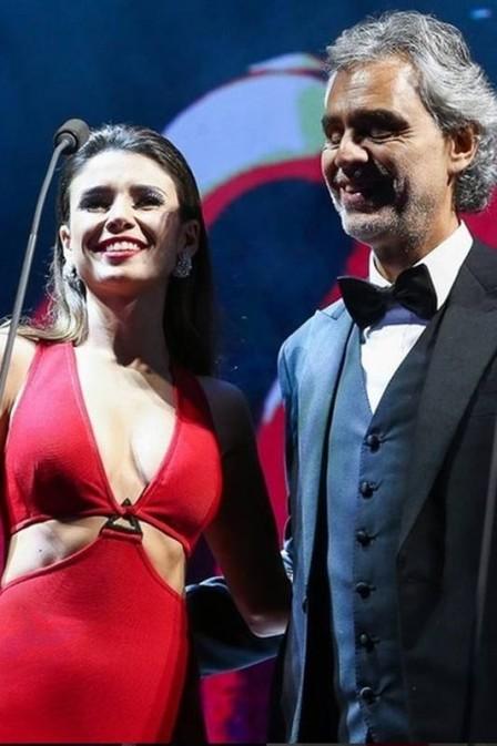 Paula Fernandes e Andrea Bocelli  (Crédito: Reprodução)