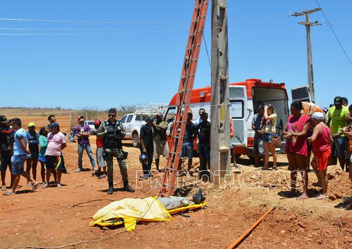 O Eletricista morreu após sofrer forte descarga elétrica