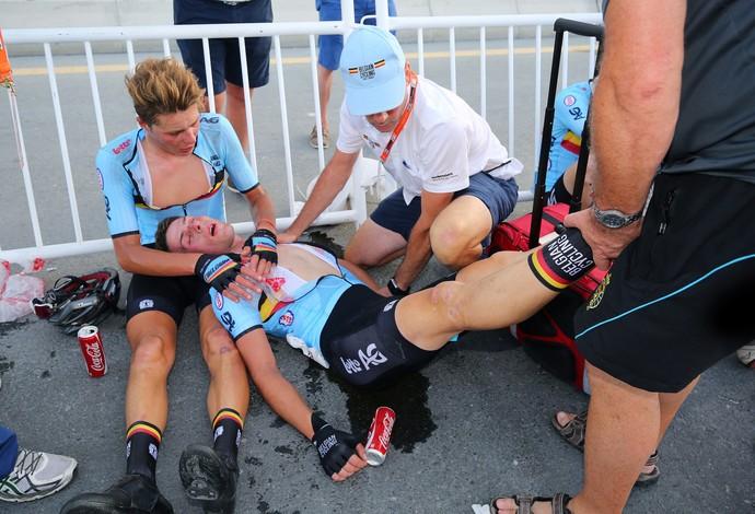 Enzo Wouters passou mal após competir por mais de três horas