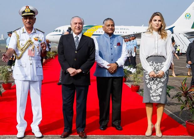 Michel Temer na Índia (Crédito: Reprodução)