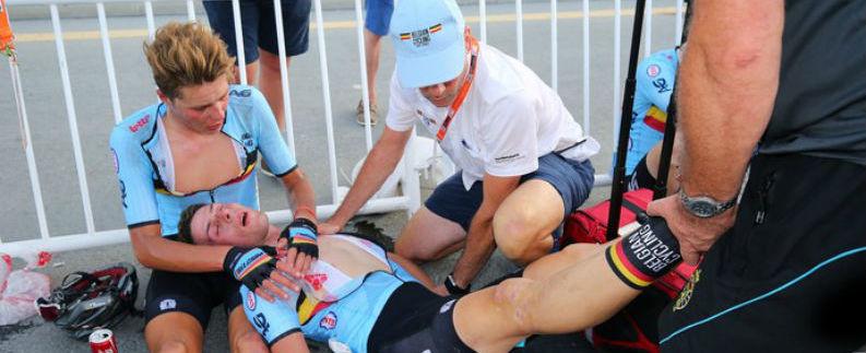 Ciclistas passal mal em mundial devido sol forte e calor de 40ºC
