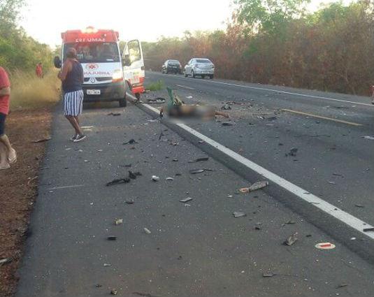 Acidente ocorreu na BR-343 em Capitão de Campos (Crédito: Reprodução)