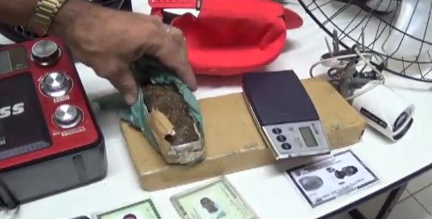 Droga apreendida pela polícia (Crédito: Rede Meio Norte)