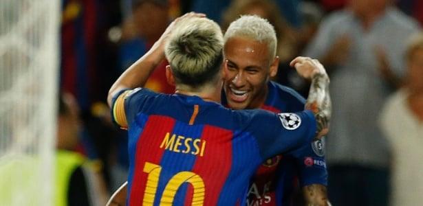 Neymar e Messi (Crédito: Reuters)