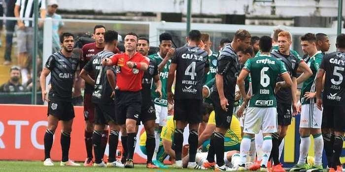 Figueirense recorre ao STJD por causa de gol do Palmeiras