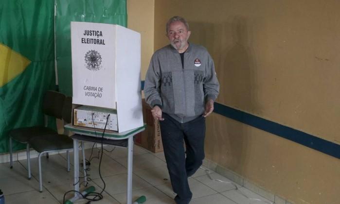 Lula votou em São Bernardo do Campo (Crédito: O Globo )