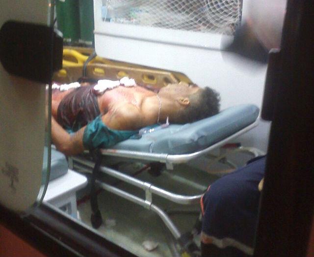 Vítima chegou a ser socorrida, mas, não resistiu aos ferimentos (Crédito: Reprodução)