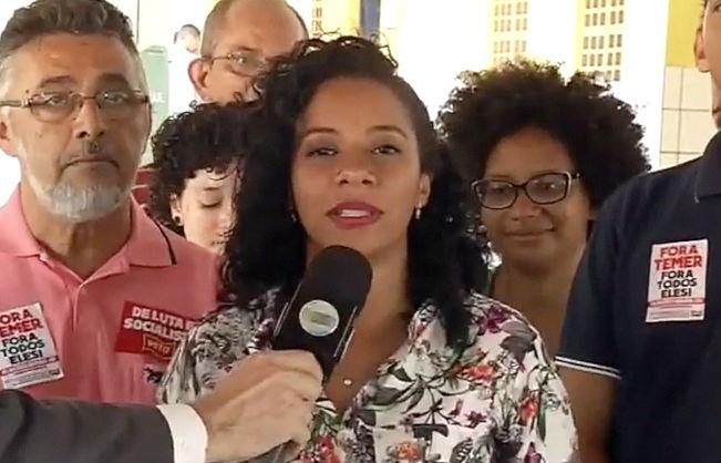 Luciane Santos do PSTU (Crédito: Reprodução Rede MN)