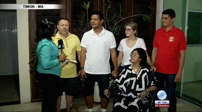 Luciano em comemoração com a família (Crédito: Reprodução/TV Meio Norte)