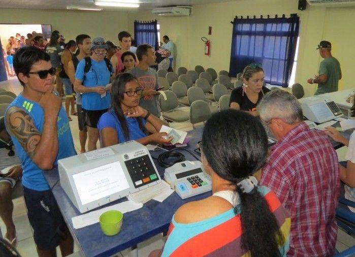 Justificativa de votos em Fernando de Noronha (Crédito: Reprodução)