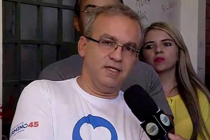 Firmino Filho ao vivo na Rede MN (Crédito: Reprodução)
