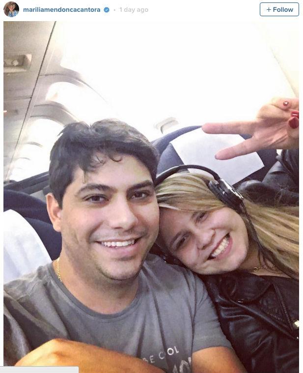 Marília Mendonça posta primeira foto com o namorado em rede social (Crédito: Reprodução)
