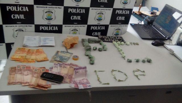 Droga encontrada com Antônio Gomes Ribeiro (Crédito: Divulgação)