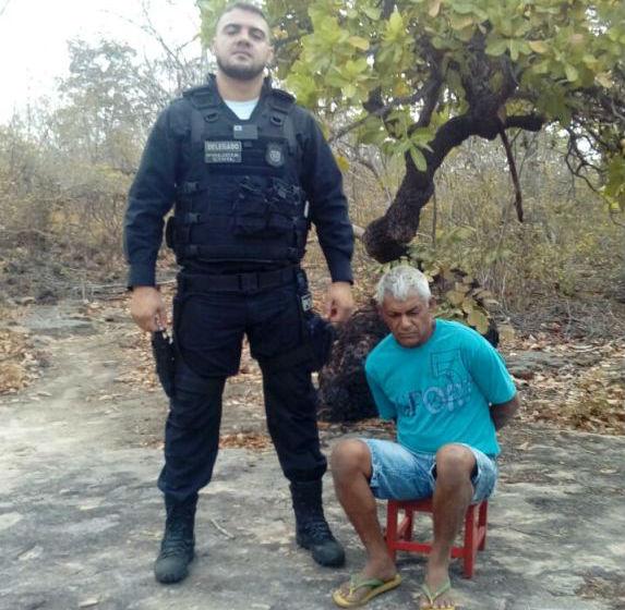Antônio Gomes Ribeiro foi preso em um matagal (Crédito: Divulgação)