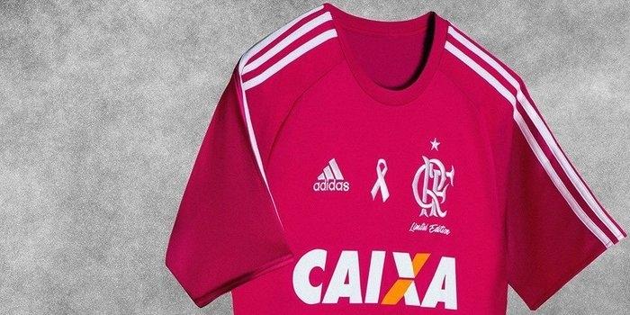 8da29ef884 Flamengo jogará com camisa rosa em ação contra o câncer de mama