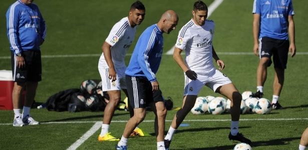 Zidane em treino do Real Madrid (Crédito: Reprodução)