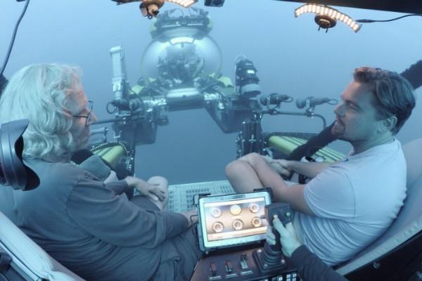 Leonardo DiCaprio e Brett Ratner em Before The Flood (Crédito: Reprodução)