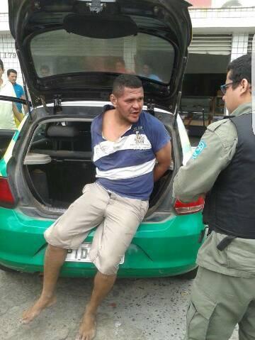Homem tenta assaltar mulher grávida e é espancado por populares (Crédito: Plantão Policial)