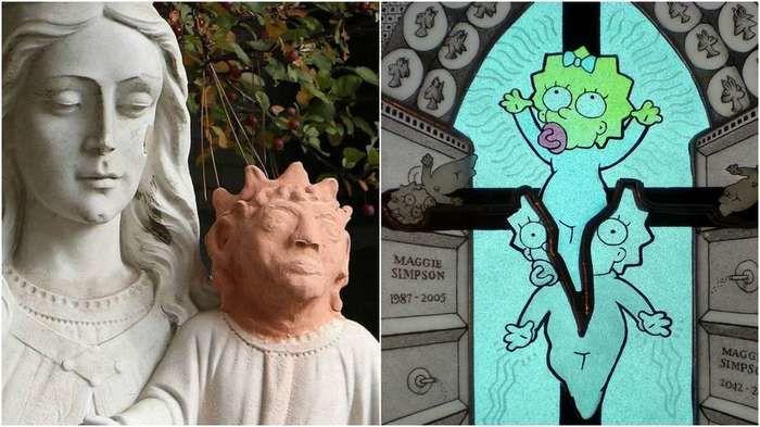 A escultura foi comparada com a Maggie Simpson (Crédito: BBCBrasil.com)
