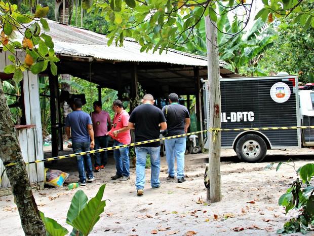 Chacina deixou quatro jovens mortos (Crédito: Suelen Gonçalves/ G1 AM)