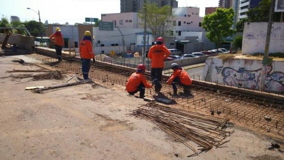 Obras na ponte JK (Crédito: Divulgação)