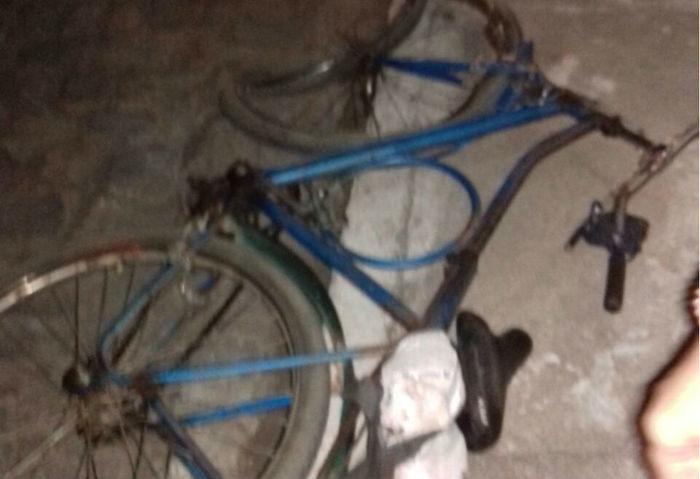 Bicicleta em que vinha Afonso José de Morais (Crédito: Reprodução)