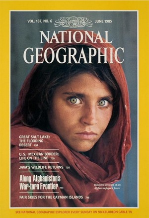 Gula foi imortalizada em capa da revista National Geographic em 1985 (Crédito: AFP)