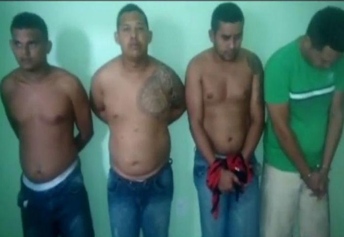 Quadrilha acusada de vários assaltos em Teresina (Crédito: Rede Meio Norte)