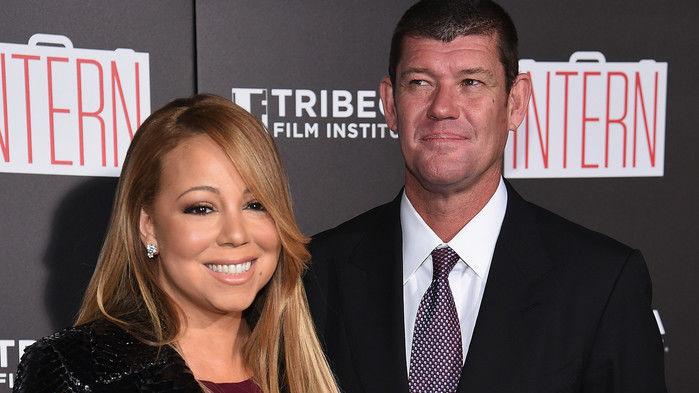 Mariah Carey e o bilionário James Packer (Crédito: Divulgação)