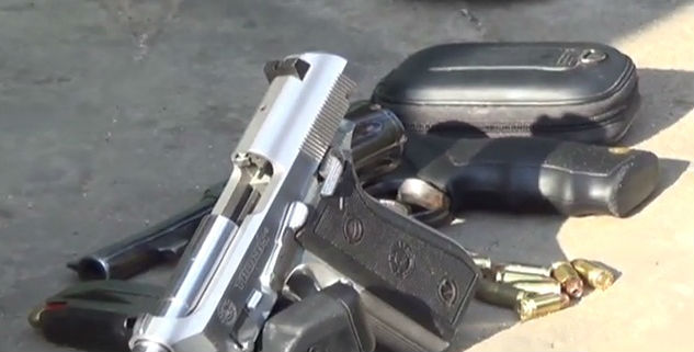 Armas encontradas com os acusados (Crédito: Rede Meio Norte)