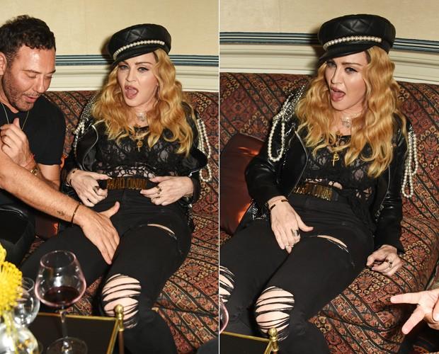 Madonna se empolga em festa e protagoniza cenas picantes