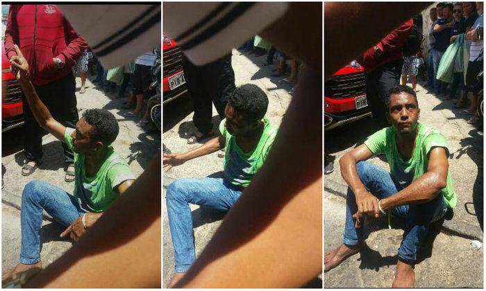 Homem tenta assaltar adolescente e é espancado por populares (Crédito: Plantão Policial)