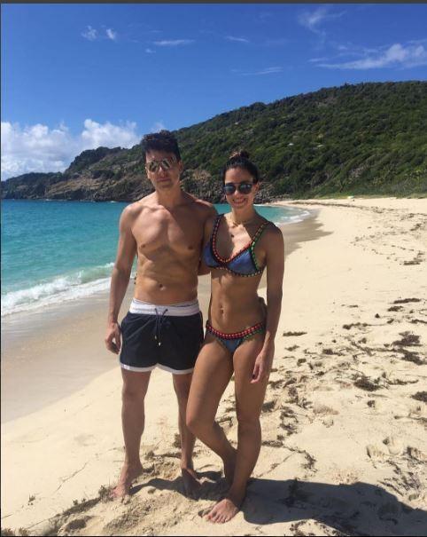 Rodrigo Faro ao lado da esposa, a modelo Vera Viel (Crédito: Reprodução)