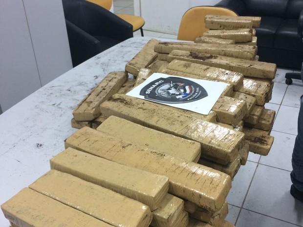 Droga encontrada pela polícia (Crédito: Divulgação)
