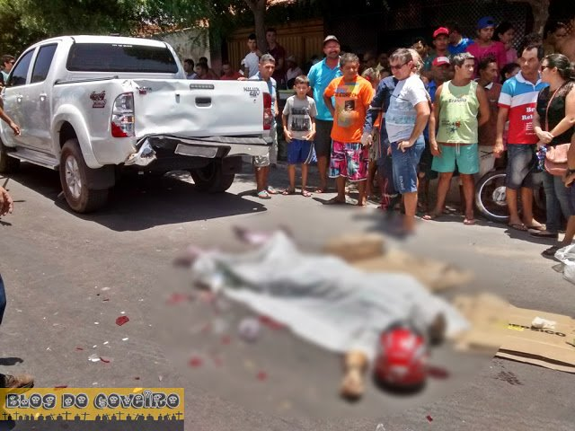 Vítima morreu no local (Crédito: Blog do Coveiro)