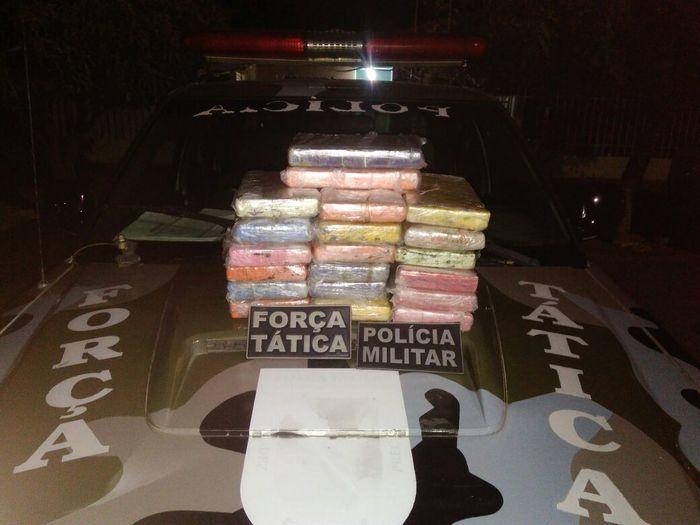 Cocaína encontrada com  Leonardo Pires Bomfim (Crédito: Divulgação)