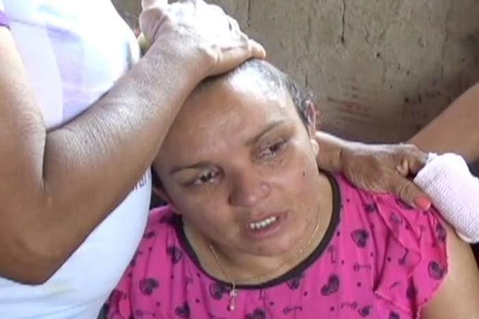 Mãe de Manoela, morta pelo companheiro em Timon (Crédito: Rede Meio Norte)