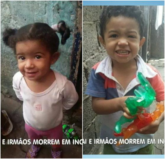 Crianças morreram por intoxicação (Crédito: Reprodução)