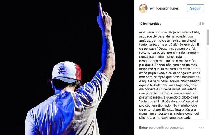 Postagem de agradecimento (Crédito: Instagram)