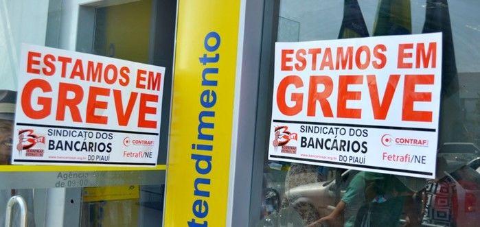 Greve dos bancários continua