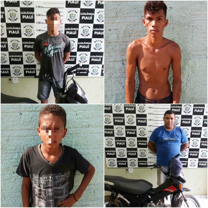 Polícia prende quadrilha suspeita de roubar moto de dentro da UESPI (Crédito: Polícia Civil)