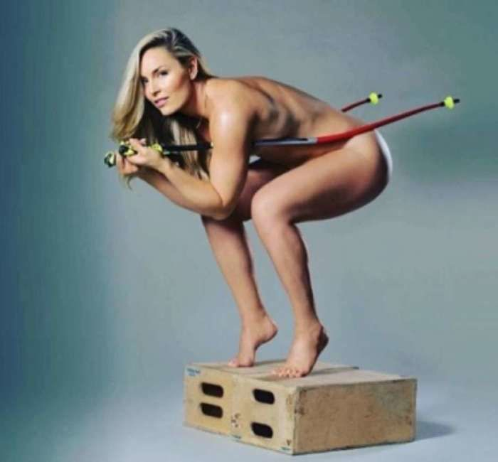 A esquiadora Lindsey Vonn (Crédito: LANCE!)