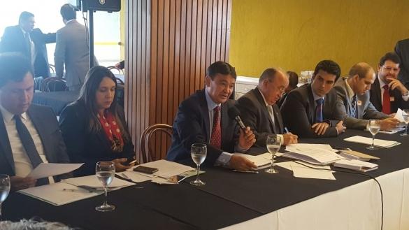 Dias durante encontro dos governadores do Norte (Crédito: Doroty Amaral)